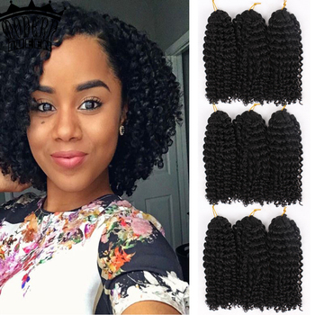 Marly Bob Ombre Crochet Braiding Hair Extensions Synthetic Marly Jerry curl Jamaican Afro Kinky Curly for Women - discount item  50% OFF Synthetic Hair