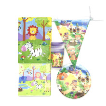 51 pcs/Lot Animal Crossing Theme Birthday Party Decorations Disposable Paper Cup Plate Napkin Flag Tablecloth Party Supplies Set 90pcs lot princess theme party decoration package for kids birthday party disposable supplies cup plate straw napkin flag