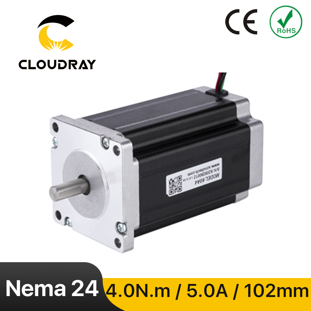 Nema 24 Stepper Motor 60mm 400N.cm 2Phase 5A Stepper Motor 4-lead  Cable for CNC Router Engraving milling machine 3D printer