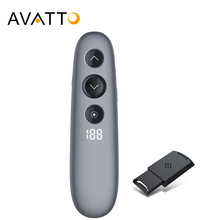AVATTO H100 Spotlight Wireless Laser Pointer Presenter with Air Mouse,TF card,PPT Powerpoint Presenter Remote for Teach Meeting цена и фото