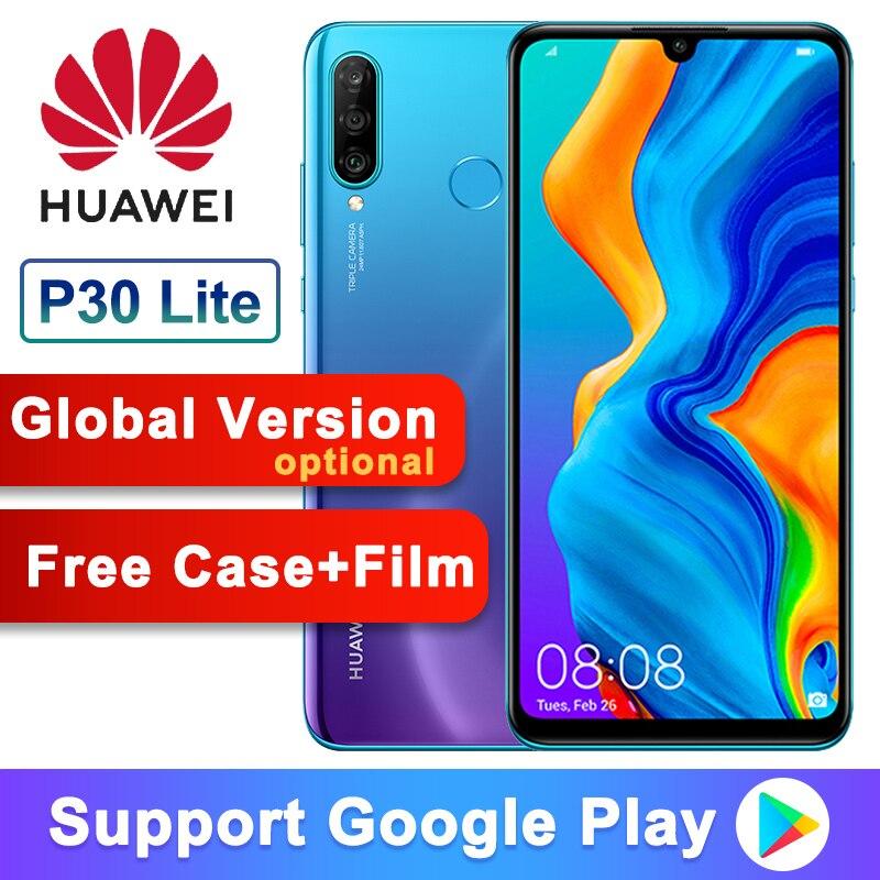 Global Versão Opcional Original Huawei P30 Lite Nova 4e Smart phone 6.15 polegada Kirin 710 Núcleo octa Android 9.0 32MP 4 * câmeras
