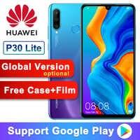 Versión Global opcional Original Huawei P30 Lite Nova 4e teléfono inteligente 6,15 pulgadas kisin 710 Octa Core Android 9,0 32MP 4 * cámaras
