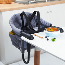 Portable Baby Dinning Highchair Foldable Kids Feeding Chair Seat Booster Safety Belt Hook-on Infants Lunch Chair Harness Cushion baby dining chair safety belt cover children high chairs foldable portable seat lunch kids chair eat table feeding highchair