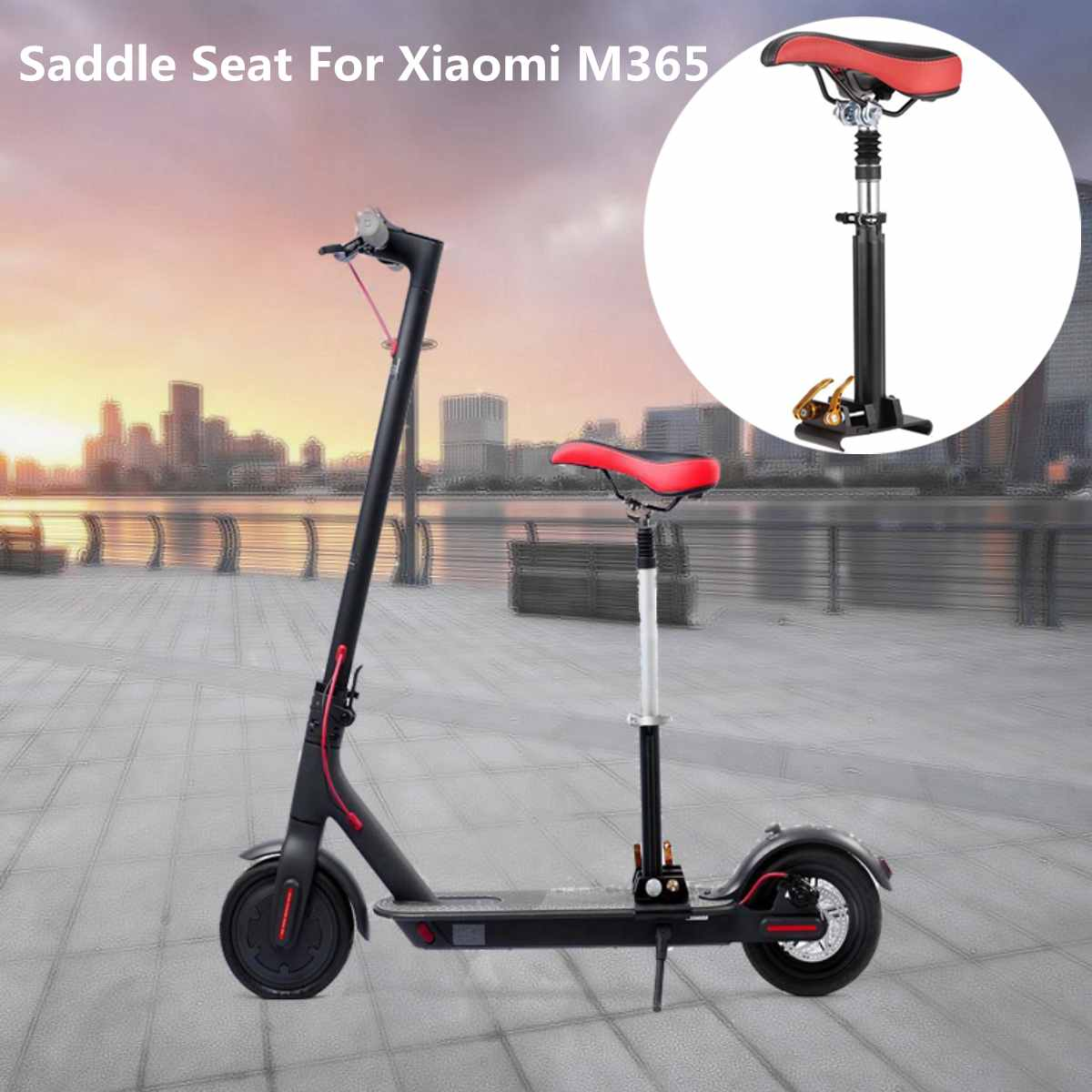 Electric Skateboard Saddle For Xiaomi Mijia M365 Electric Scooter Foldable Height Adjustable Shock-Absorbing Folding Seat Chair
