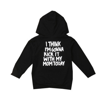 1-6Y Kids Baby Boy Girl Long Sleeve Back Letter Print Hooded Sweatshirt Hoodies Tops Autumn Clothes 1
