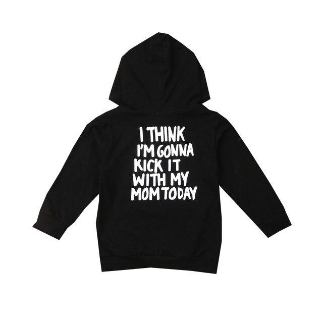 1-6Y Kids Baby Boy Girl Long Sleeve Back Letter Print Hooded Sweatshirt Hoodies Tops Autumn Clothes 1