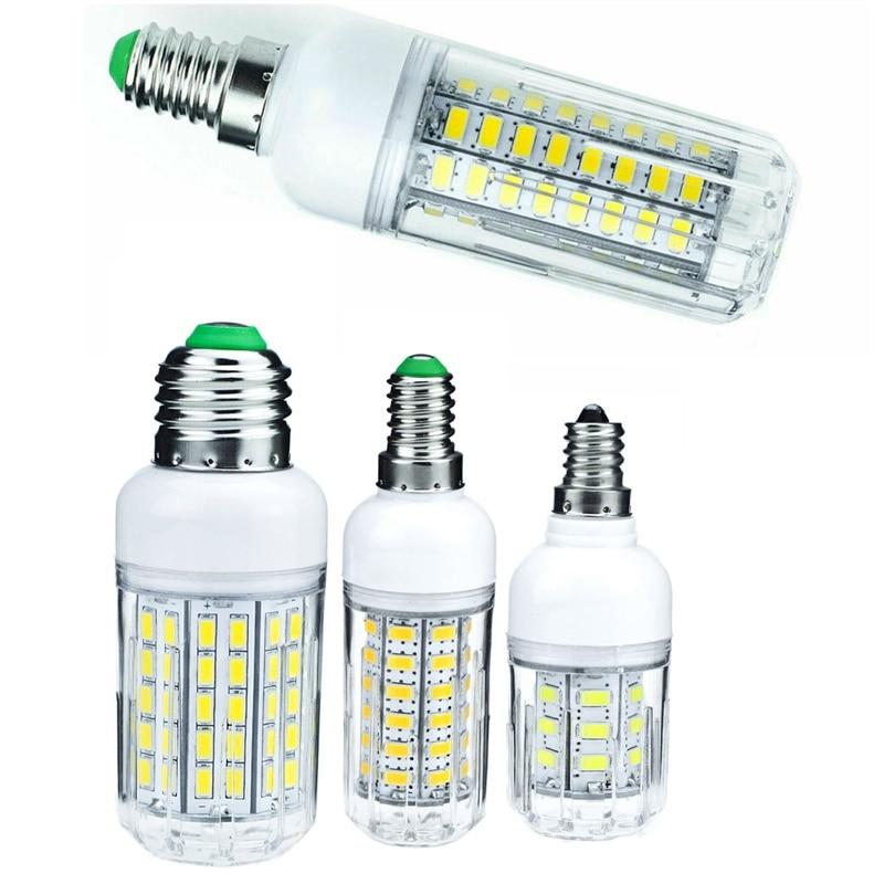 E27 LED Lamp E14 E12 LED Bulb SMD 5730 Corn Bulb 24 36 48 56 69 72 LEDs Chandelier Candle LED Light For Home Decoration Ampoule