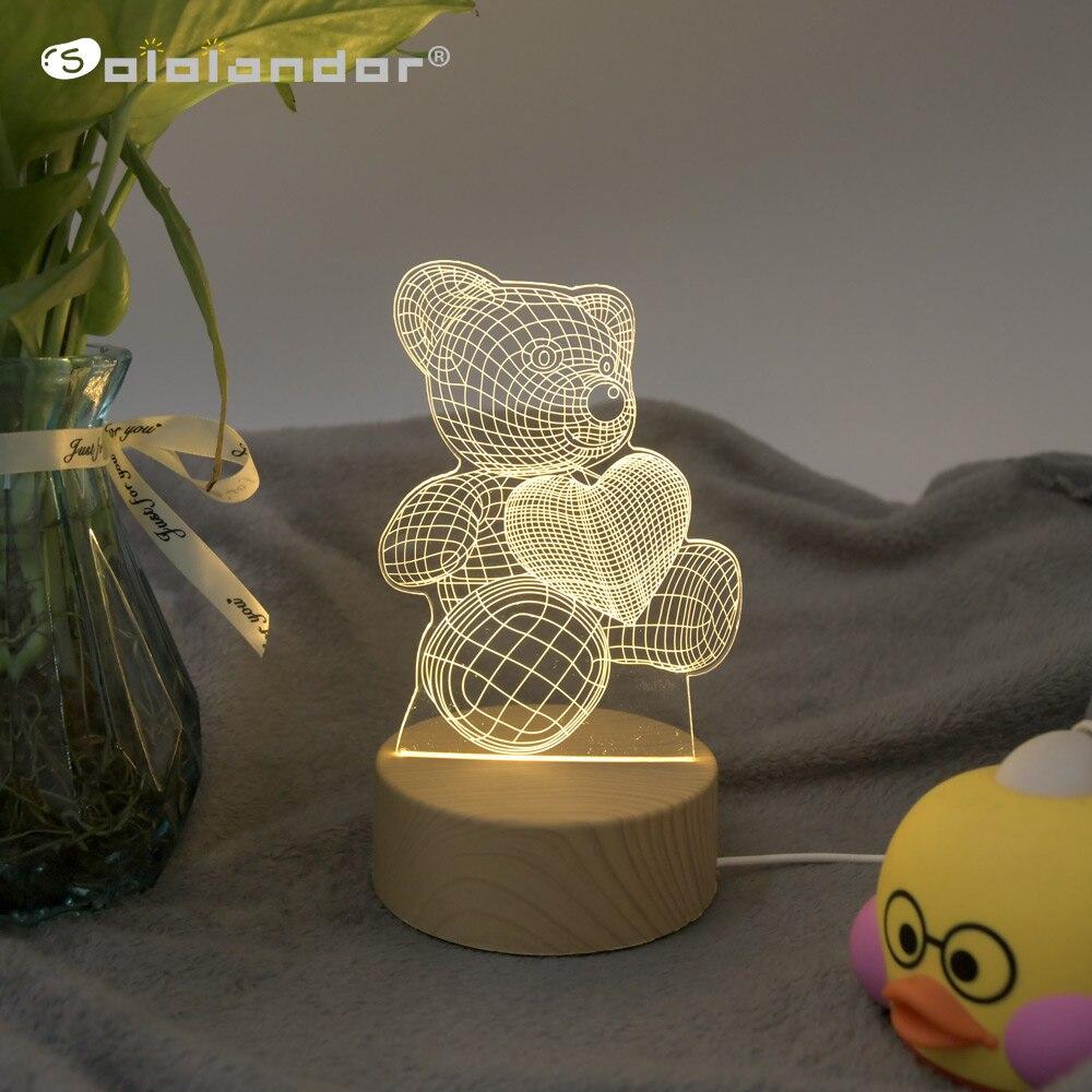 Новинка 2020, 3D Светодиодная лампа, креативные деревянные ночные светильники, новинка, иллюзия, ночник, 3D иллюзия, настольная лампа для домашн...