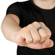 Men Pixiu Charms Ring Feng Shui Amulet Wealth Lucky Open Adjustable Ring Buddhist Jewelry B99