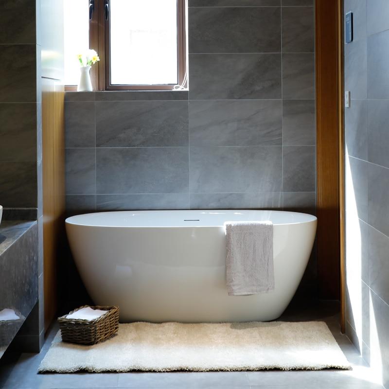 Aojin estilo europeu banheira de família acrílico banheiro único comum banheira autônomo 1500mm-3