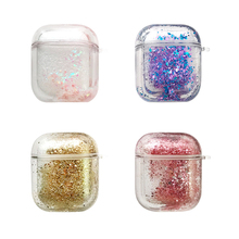 Fone De Ouvido Bling Quicksand Case Bluetooth Earphone for Apple Airpods 2 1 Air Pods Wireless Headphone Cute Pc Earbuds Headset