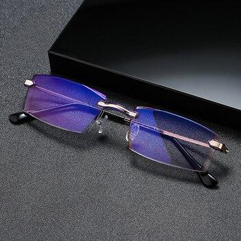 seemfly Finished Myopic Glasses Ultralight Comfortable Frame For Men Women Anti Blue Light Myopia Spectacles -1.0 ~ -4.0