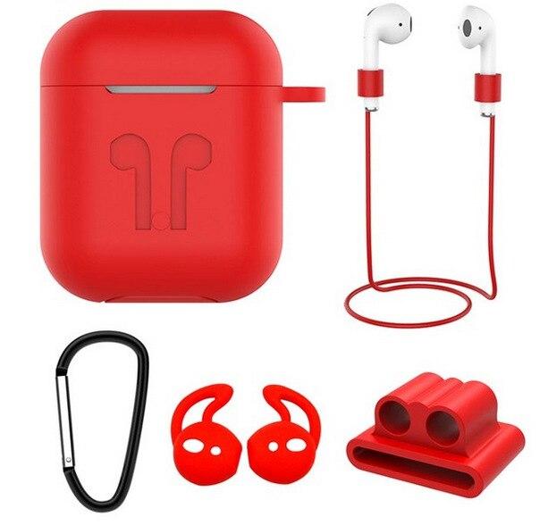 5 en 1 coque en silicone écouteurs Anti perte support a