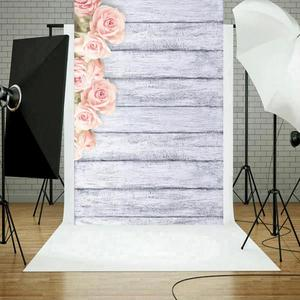 Image 3 - Photo Studio Wood Floor Printing Backdrops Romantic Floral Photography Studio Video Art Cloth Background for Camera Photo