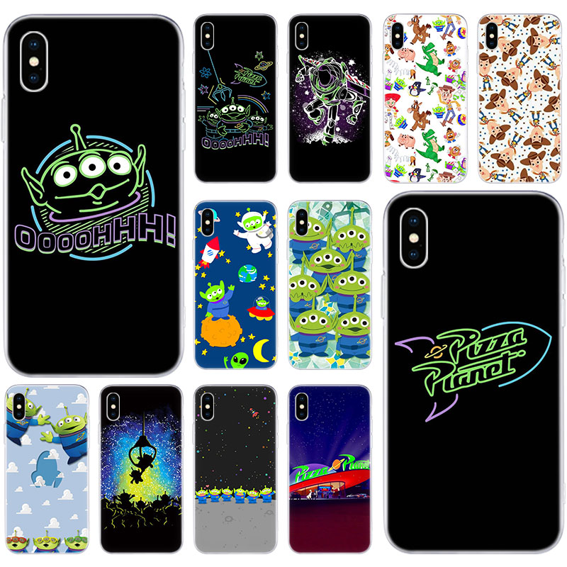 Hot <font><b>Toy</b></font> <font><b>Story</b></font> Pizza Planet Soft Silicone Case for Apple <font><b>iPhone</b></font> 11 Pro XS MAX X XR 7 8 Plus 6 <font><b>6s</b></font> Plus 5 5S SE Fashion Cover image