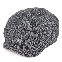 2019 new Retro Newsboy Caps Men Octagonal Hats Black British Painters