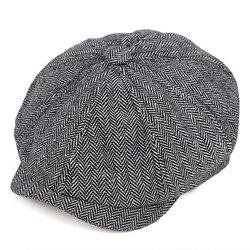2019 new Retro gazeciarz czapki mężczyźni ośmioboczna czapki Black w stylu brytyjskim malarzy kapelusze jesień zima berety w jodełkę kaszkiety