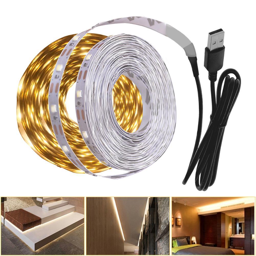 5 в USB СВЕТОДИОДНЫЙ светильник для кухни, 3 м, 2 м, теплый белый светодиодный ночник для внутреннего освещения, светильник для кухни, спальни, телевизора, декоративный светильник s|Подшкафные лампы|   | АлиЭкспресс