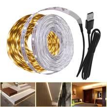 Lampe de nuit blanche chaude à LED, pour armoire de cuisine, 3m 2m, 5V bande LED USB, éclairage d'intérieur, éclairage de décoration pour cuisine, chambre à coucher, télévision
