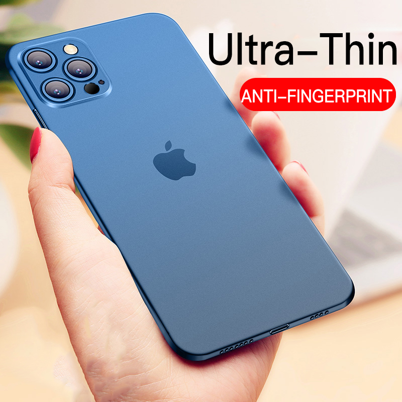 Ultra Thin Matte Anti fingerprint Phone Case For iPhone 12 11 Pro Max X XR XS Max 7 6 6s 8 Plus Shockproof Frosted Soft PP Cover Phone Case & Covers  - AliExpress
