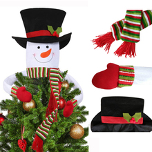 Christmas Ornament Christmas Gift Flannel Doll Toy Ornament Cute snowman doll christmas decoration New Year for Kids cute holiday snowman doll lint cellucotton toy for christmas white red