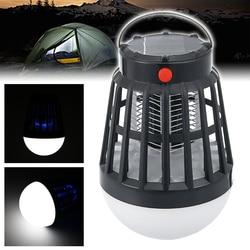 Zasilane energią słoneczną urządzenie przeciw komarom lampy na trawnik ogrodowy przeciw owadom Bug latający zabójca lampy packa na komary LED lampa