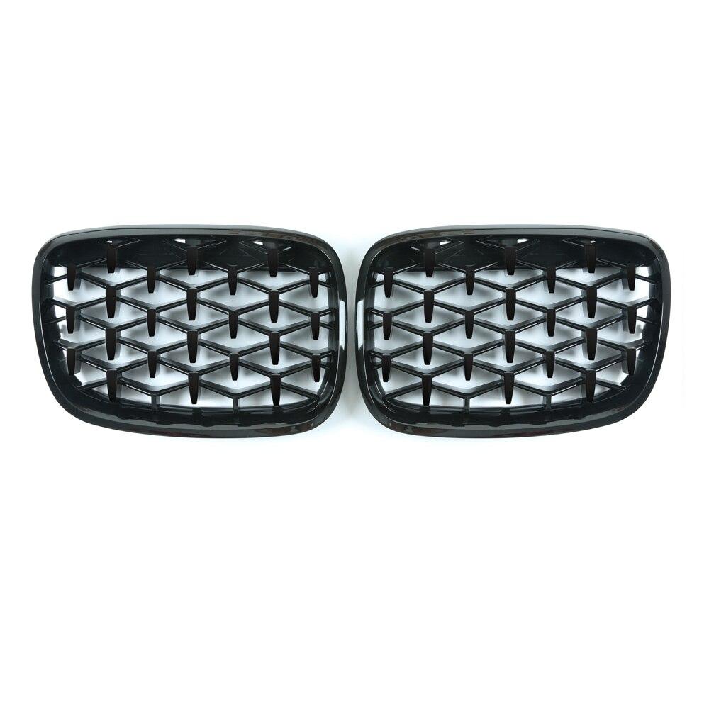 Для BMW X5 E70 X6 E71 Алмазная решетка Метеор стиль передний бампер Стайлинг автомобильной решетки 2007 2013 - 2
