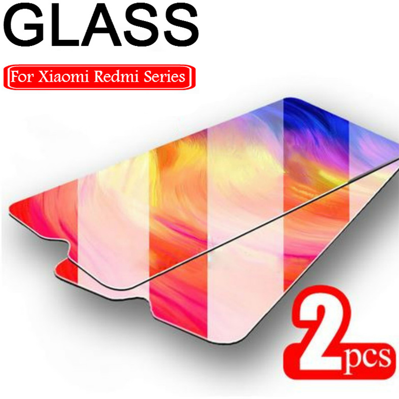 Redmi 8 8A 7 7A 5 플러스 필름 화면 보호기에 대 한 2PCS 보호 유리 Xiaomi Redmi K20 프로 6 프로 5A 6A 강화 유리 9H HD