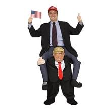 Donald Trump Cosplay Rider Trang Phục Cho Lễ Hội Halloween Thụy Hiệu Suất