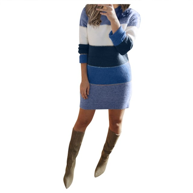 Striped Sweater Day Dress 3