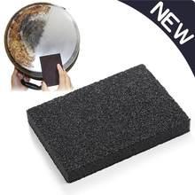 10x7x1.2cm mágica cozinha marron emery esponja escova de lavar louça apagador pote exceto ferrugem limpeza cozinha acessórios itens