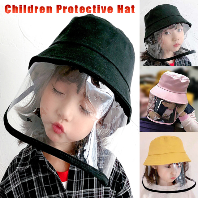 Kids Anti C19 Masks For Boys Girls with Hat dust-proof Anti Flu Baby Mask Outdoor Toddler Safety Protective mask D35
