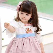 Yoliyolei lolita kids dress spanish ruffled doll collar retro