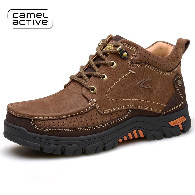 Winter New Leather Outdoor Tooling Shoes Waterproof And Antiskid Autumn Winter Warm Leather Hiking Shoes Sneakers