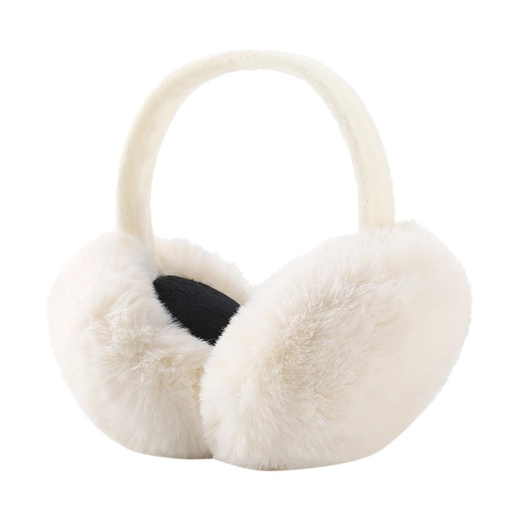Women's Earmuffs Plush Winter Earmuffs Warm Outdoor Folding Earmuffs Christmas Gift Fur Earmuffs 9.30