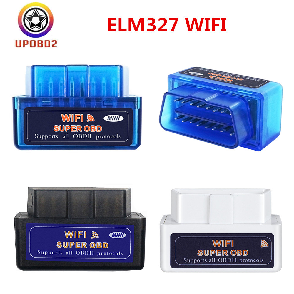 ELM327 WiFi V1 5 OBD2 Scanner ELM 327 Bluetooth obd2 OBDII Auto Car Diagnostic Tool ELM327 1 5 WiFi Code Reader For iOS Android