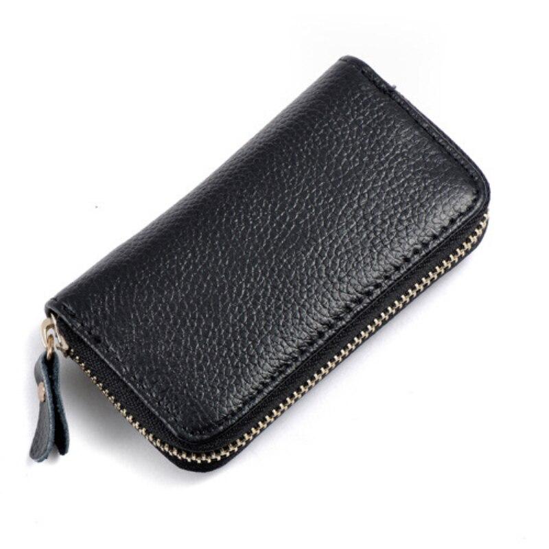 Key Wallet Bag Leather Zipper Coin Credit Card Keychain Bag Storage Storage Wallet Key Bag