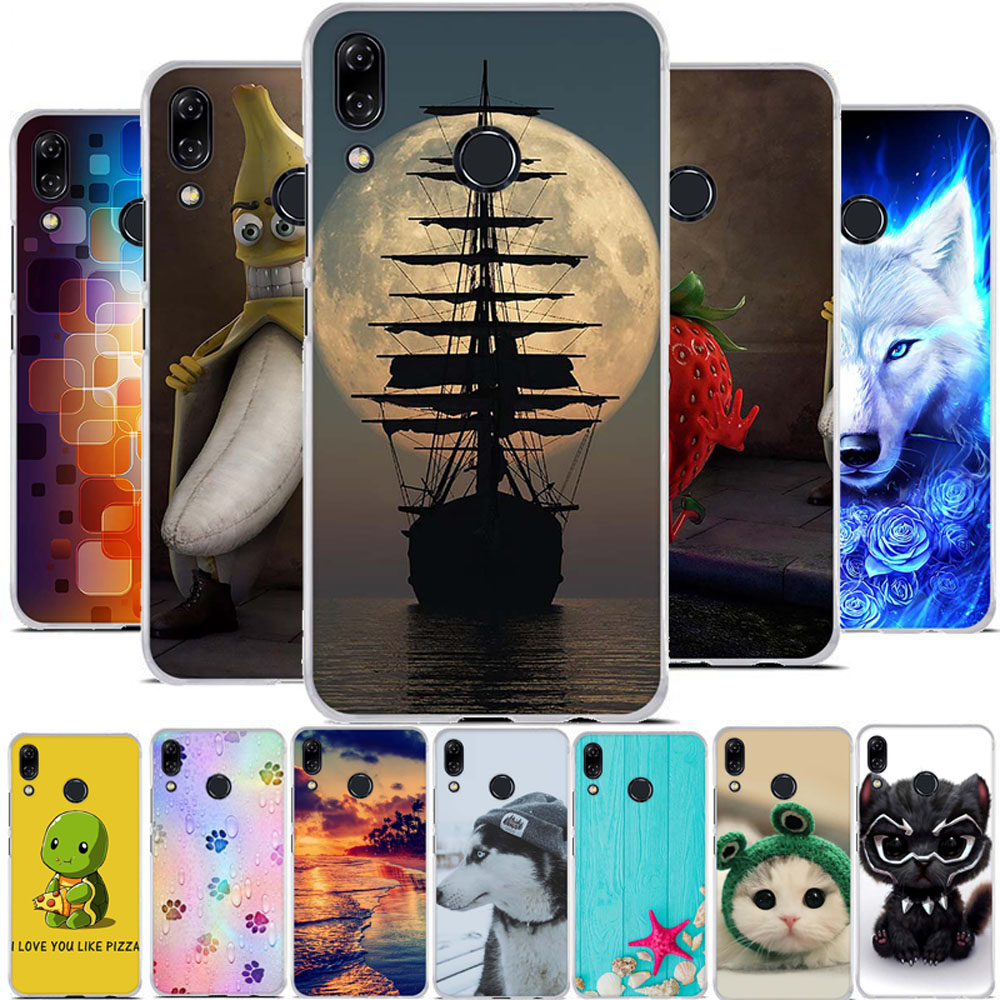 For Asus Zenfone 5z ZS620KL Case Silicone 3D Print Case For Asus 5z ZS620KL TPU Housing Cover For Zenfone 5 ZE620KL Shell Funda