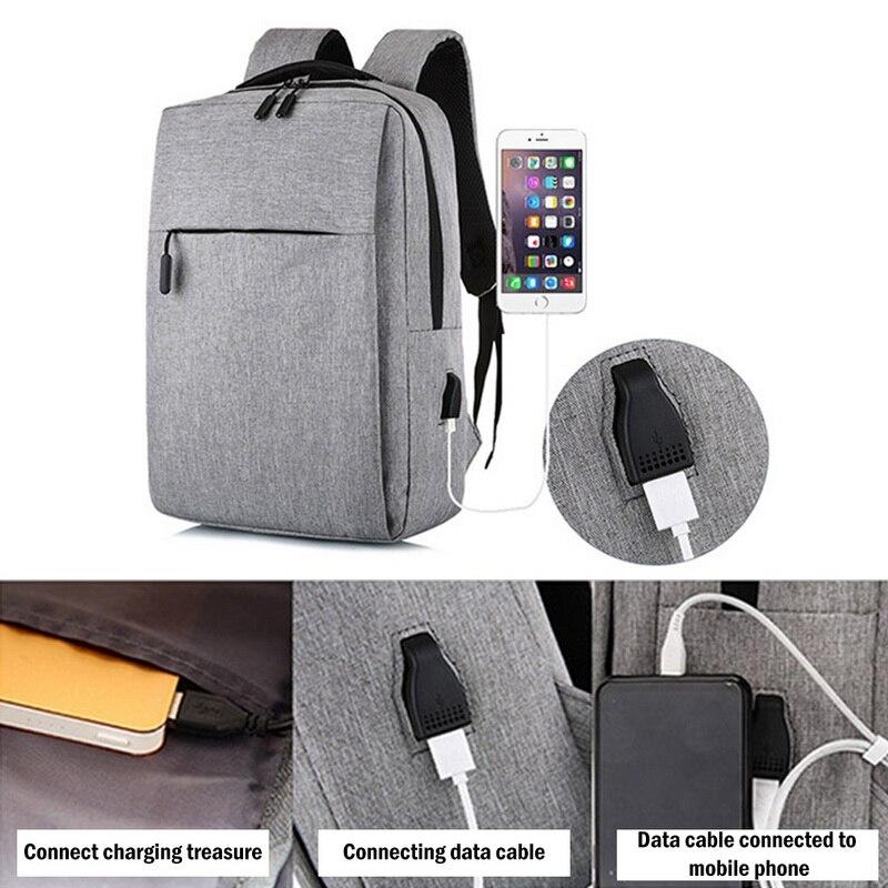 Bolsa para laptop de 17 polegadas portátil anti-roubo bolsa escolar mochila masculina de viagem casual com carregamento USB 3