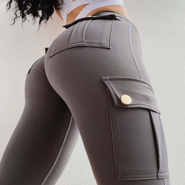 Pantaloni Femei Modă sexy Slim cu talie înaltă elastici 2
