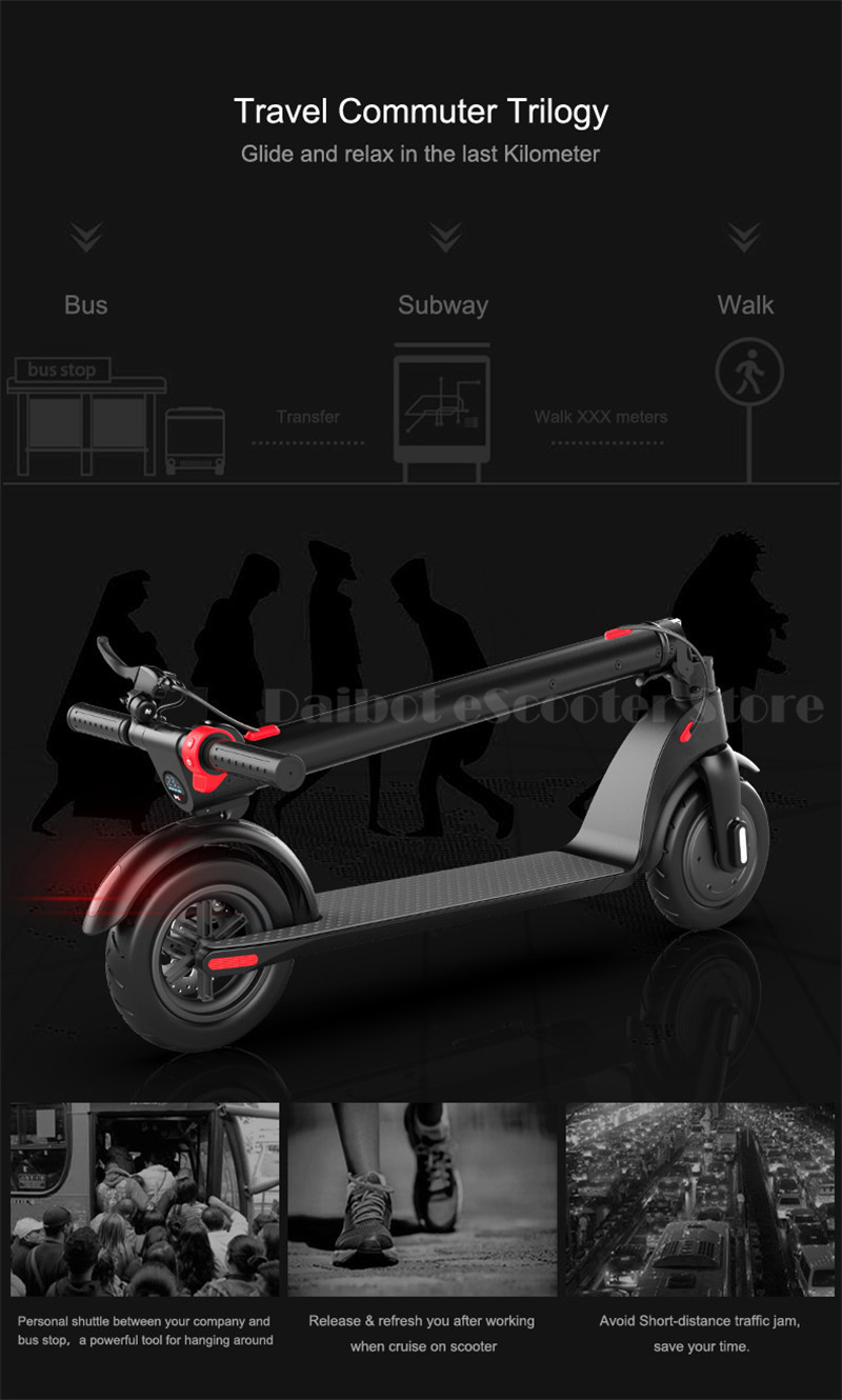 HX X7 Electric Scooter 36V 2 Wheel Electric Scooters With Removable Battery 8.5 Inch 250W Portable Folding Electric Kick Scooter (5)