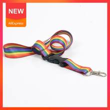Colorful Rainbow Phone Lanyard Printed Webbing Phone * Keys For ID 2.5 Card Neck Straps 100cm M5C2(China)