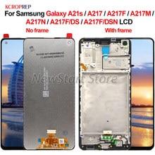 Do Samsung Galaxy A21s A217 A217F A217M A217N wyświetlacz LCD ekran dotykowy Digitizer zgromadzenie dla Samsung A217F/DS A217F/DSN lcd