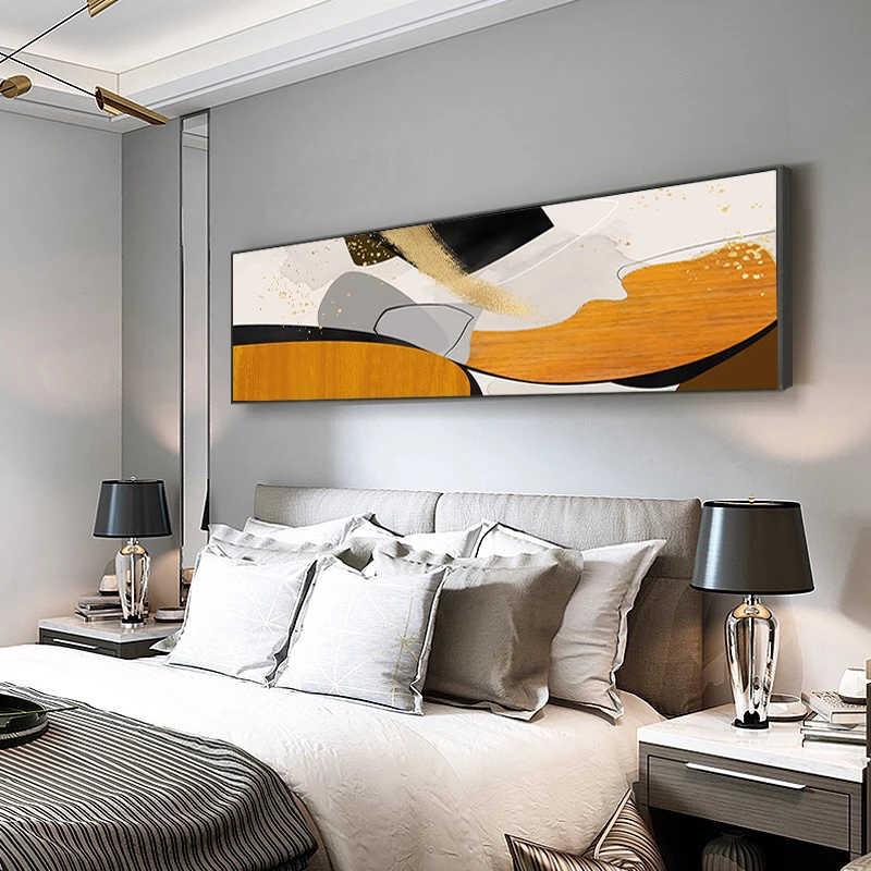 Абстрактный цветной холст, живопись блоков, оранжевый, черный, синий, постер на кровать, принты, современное изображение для гостиной, спальни, домашний декор