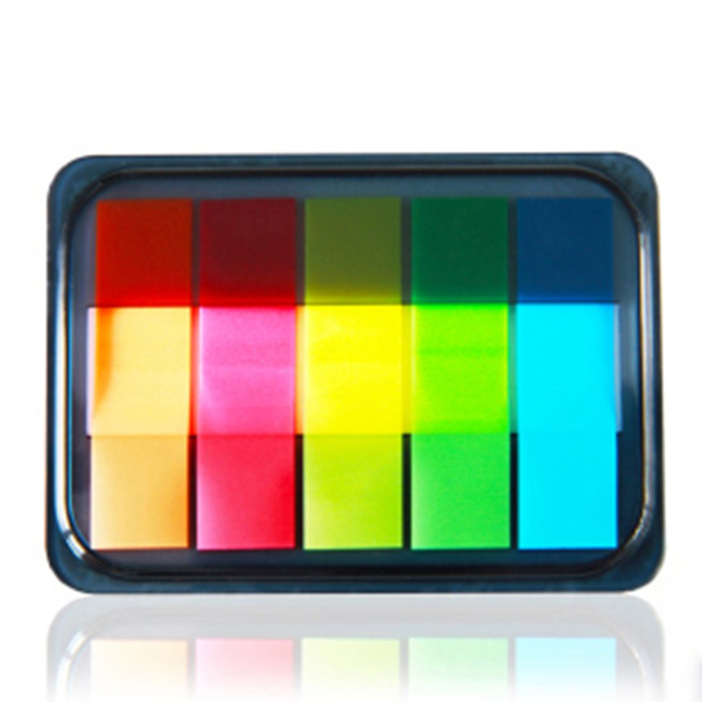 Deli 9060 Memo Papers 1 Pack 5 Colors*20 Sheets Notepads Stickers Self-Adhesive Paper Series Stationery Fluorescence Color