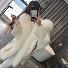 2020 Casual Winter Jacket Women Natural Real Fox Fur Collar