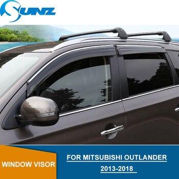 Window Deflectors For Mitsubishi Outlander 2013 2014 2015 2016 2017 2018  Window Visor Vent Shade Sun Rain Deflector Guards SUNZ