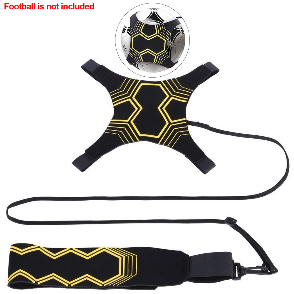 Soccer Trainer Football Strap Kick Ball Control Skills Neoprene Elastic Returner Training Aid Sports Supplies Adjustable Tool