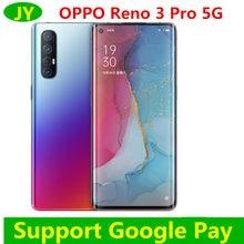 Orijinal Oppo Reno 3 Pro 5G akıllı telefon Snapdragon 765G Octa çekirdek 12G RAM 256G ROM 5 kamera VOOC 6.5