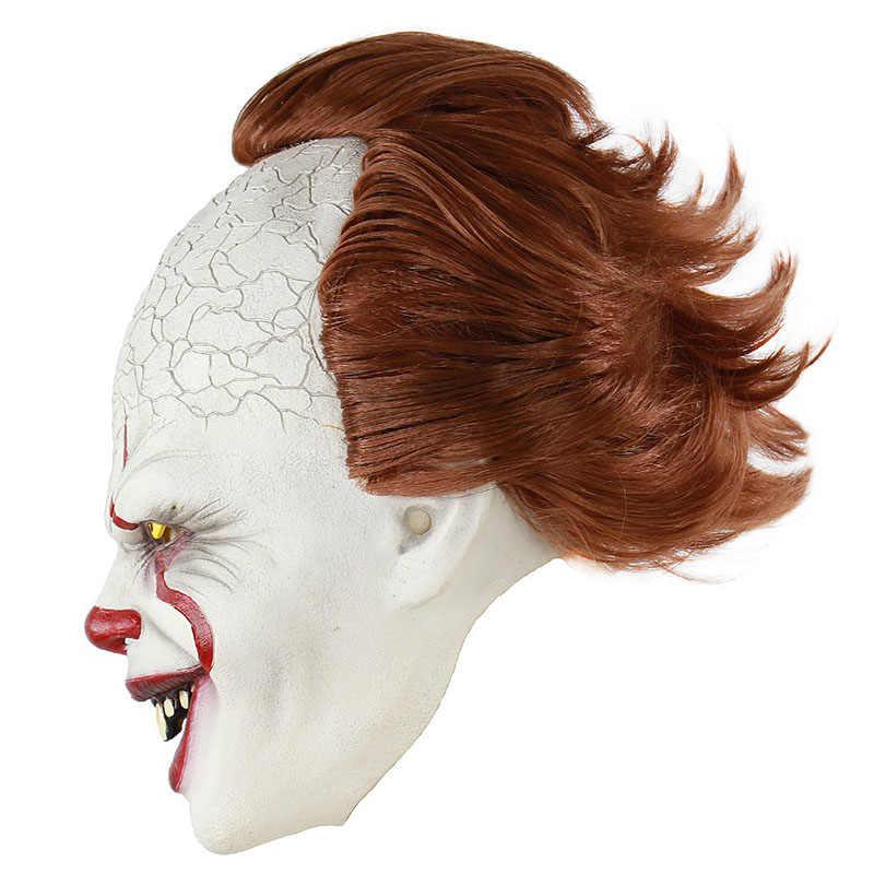 Dropshipping Clown silikonowy powrót dusza maska Cos zestaw słuchawkowy Halloween Horror rekwizyty naturalny lateks dorosły kod gorąca sprzedaży